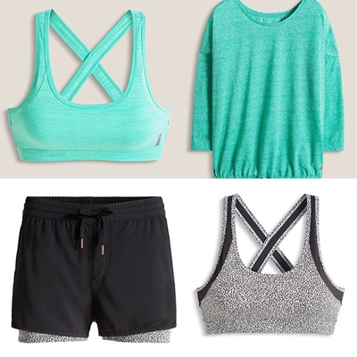 Fitness clothing.