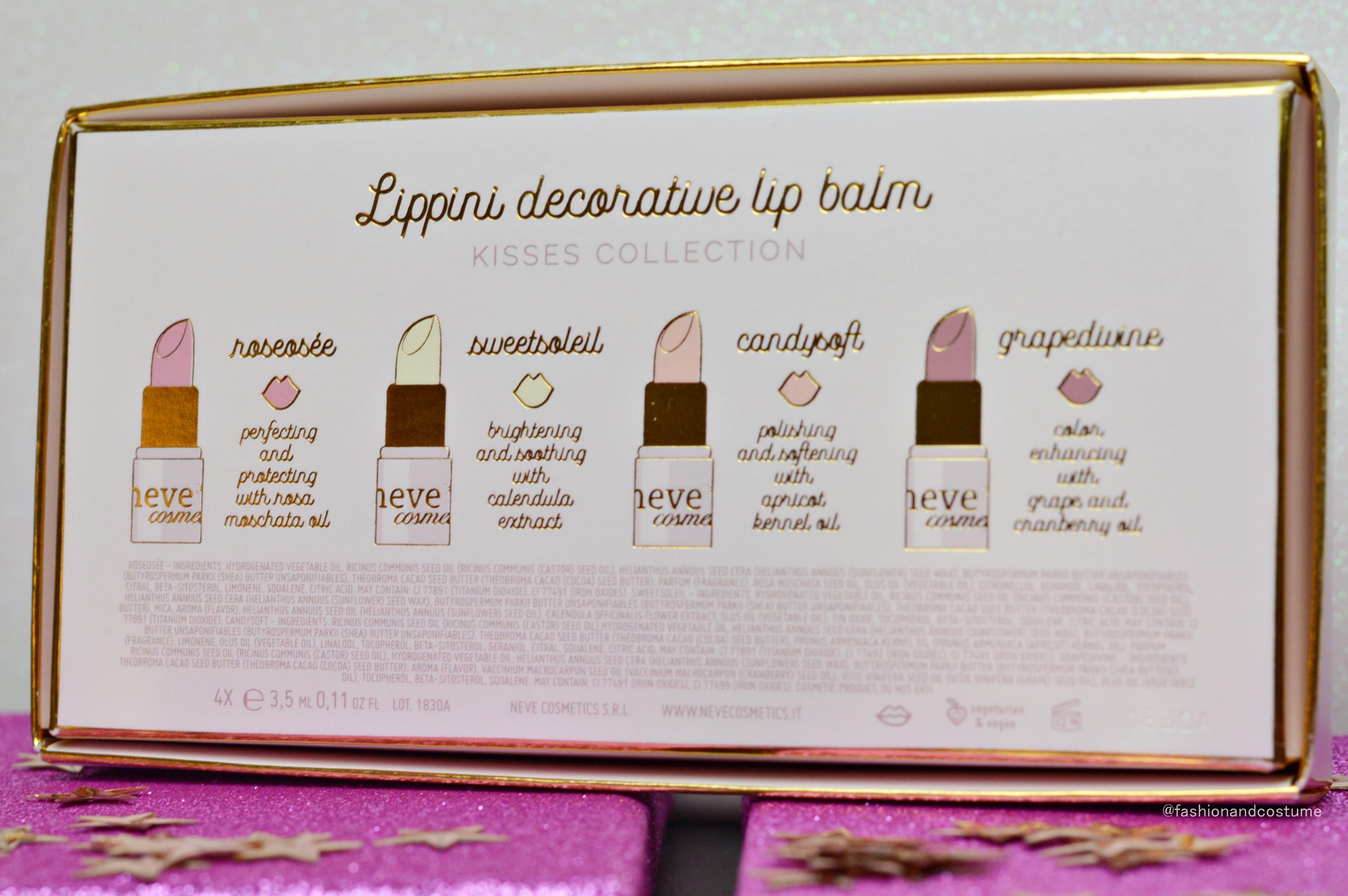 lippini-lipbalm-neve-cosmetics-naturale-labbra-idratate-idratare-roseosée-sweetsoleil-natale-promozione-candysoft-grapedivine