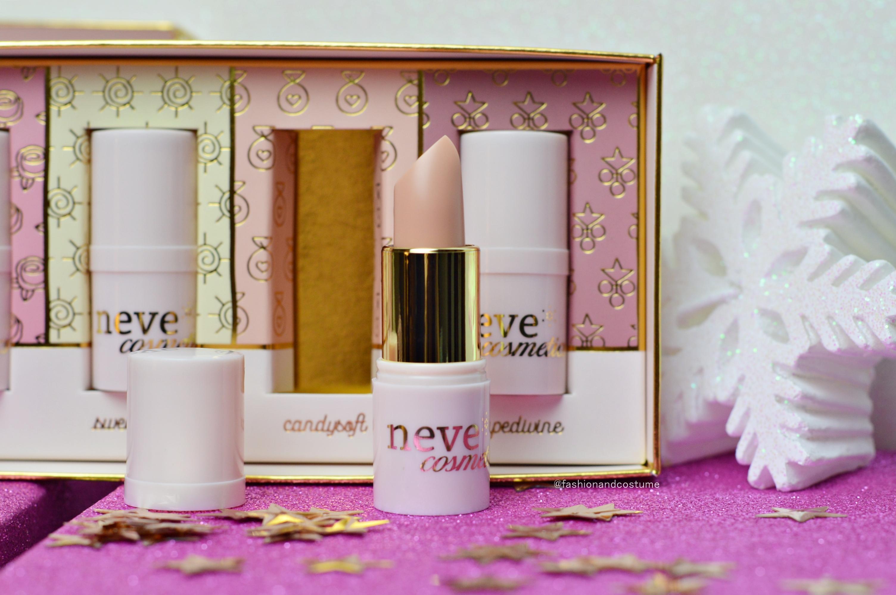 lippini-lipbalm-neve-cosmetics-naturale-labbra-idratate-idratare-roseosée-sweetsoleil-natale-promozione-grapedivine-candysoft-blogger