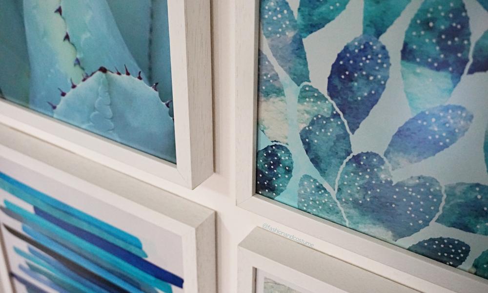 La mia gallery wall con Posterlounge: tutte le sfumature di blu!